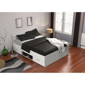 Structure de lit achat vente structure de lit pas cher soldes cdiscount - Entourage de lit adulte ...