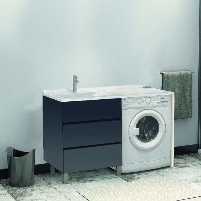 meuble vasque gauche kora ll 124g gris hors miroir et ll 124 meuble 60 espace ll. Black Bedroom Furniture Sets. Home Design Ideas