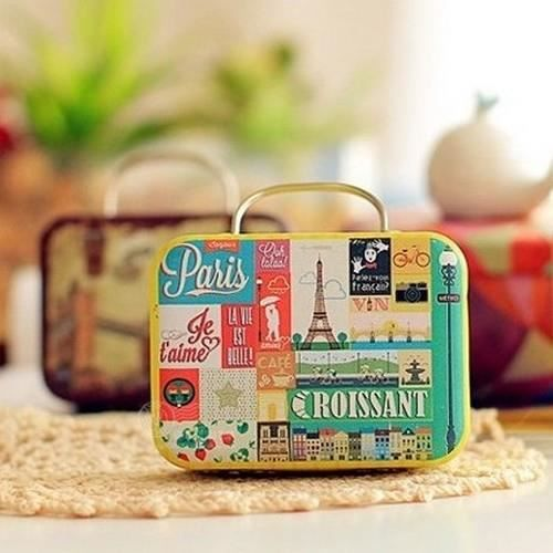 bote drages thme paris boite drages valise - Valise Dragees Mariage