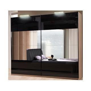 armoire 2 portes coulissantes l 200 modele dalila achat. Black Bedroom Furniture Sets. Home Design Ideas