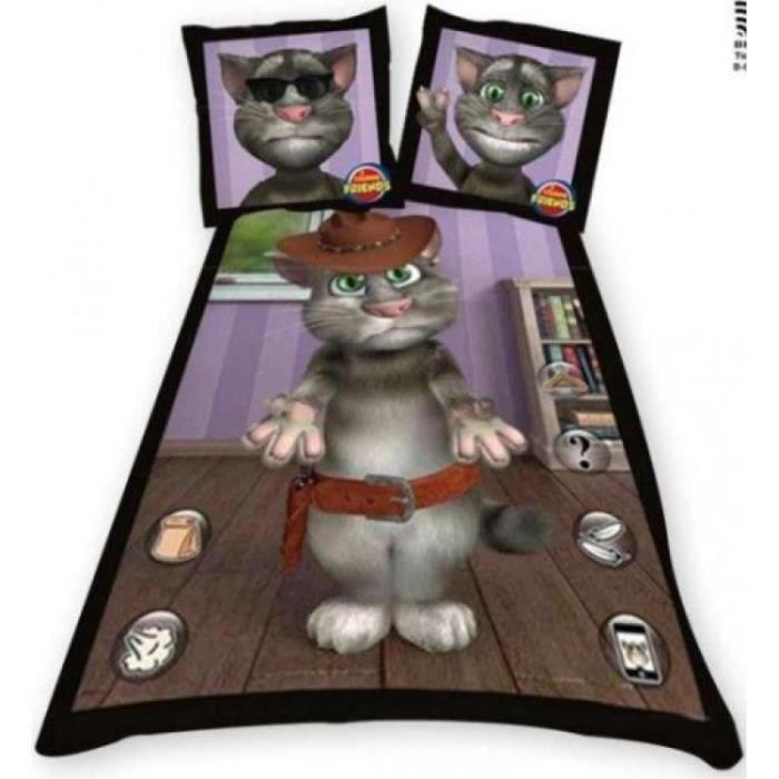 parure de lit enfant 1 place tom le cowboy chat achat. Black Bedroom Furniture Sets. Home Design Ideas