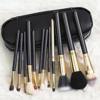 12x maquillage brosse set cosm tique dres outils 2 noir pinceau de maquillage achat vente. Black Bedroom Furniture Sets. Home Design Ideas