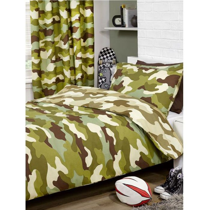 armee parure housse de couette taie camouflage achat