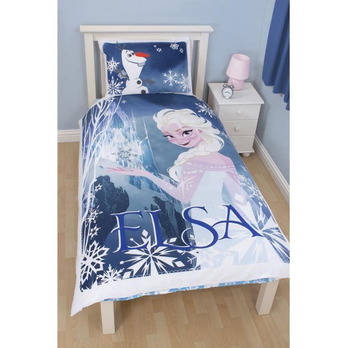 Housse de couette et taie d 39 oreiller la reine des neiges - Housse de couette elsa reine des neiges ...