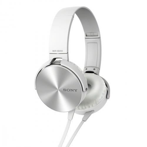 casque audio sony mdrxb450a extra bass blanc casque. Black Bedroom Furniture Sets. Home Design Ideas