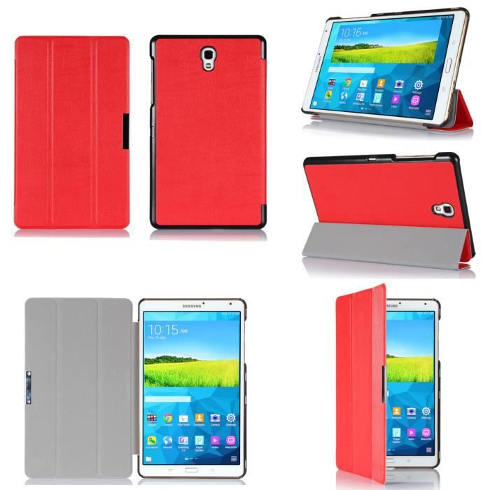 Etui samsung galaxy tab s 8 4 rouge housse coque achat for Housse galaxy tab s