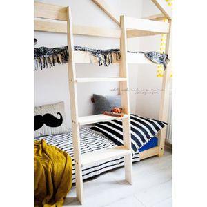 Lit cabane pour enfant achat vente lit cabane pour enfant pas cher les - Lit superpose pin massif ...