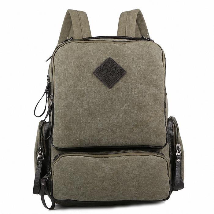 manjh l ves du secondaire de cartables sac dos vierge vert arm e vert achat vente sac. Black Bedroom Furniture Sets. Home Design Ideas