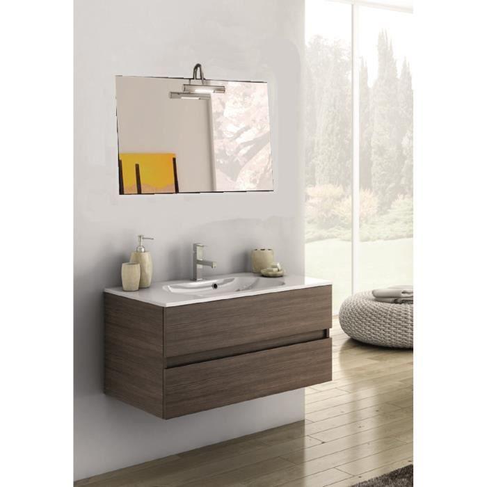 Aurelia meuble pour salle de bains avec vier et miroir for Evier salle de bain avec meuble