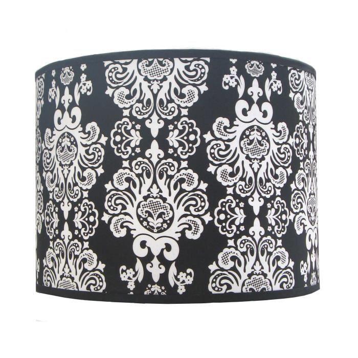 abat jour suspension baroque blanc noir achat vente abat jour suspension baroqu les soldes. Black Bedroom Furniture Sets. Home Design Ideas