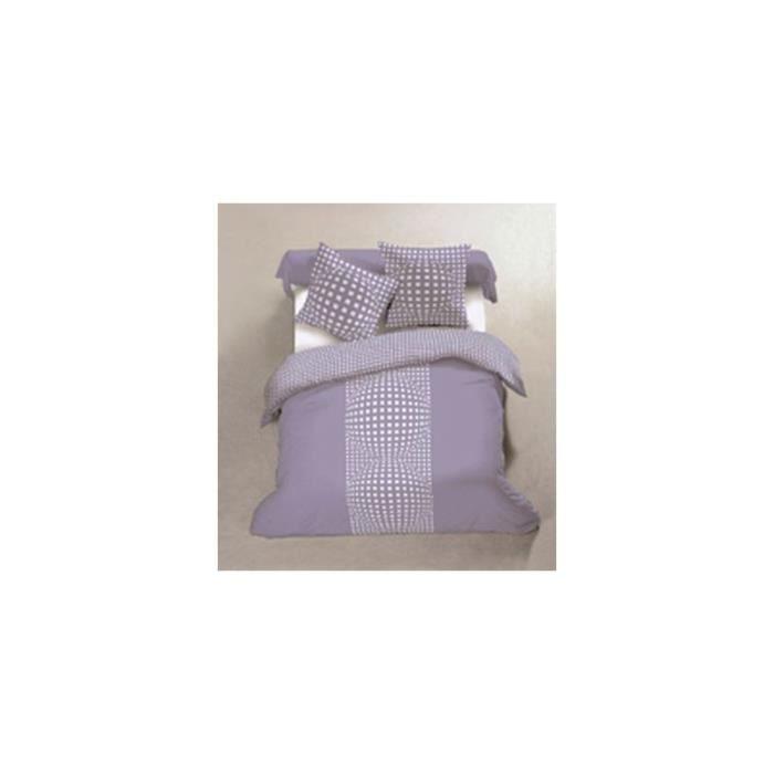 Housse de couette cartouche 220 x 240 cm violet achat vente parure de d - Cdiscount linge de maison ...