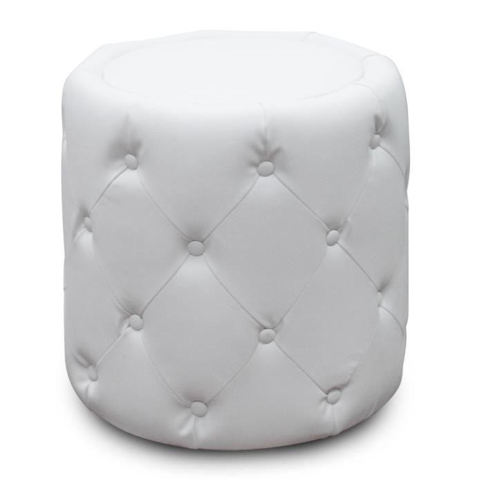 pouf colonade blanc achat vente pouf poire cuir pu. Black Bedroom Furniture Sets. Home Design Ideas