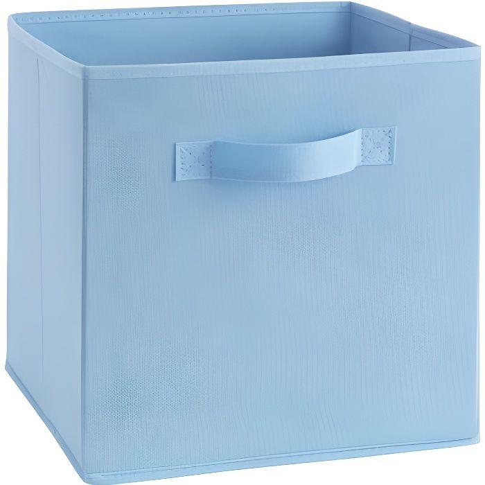 Compo tiroir de rangement tissu bleu 27x27x28 cm achat vente boite de rangement tissu - Cube rangement tissu ...