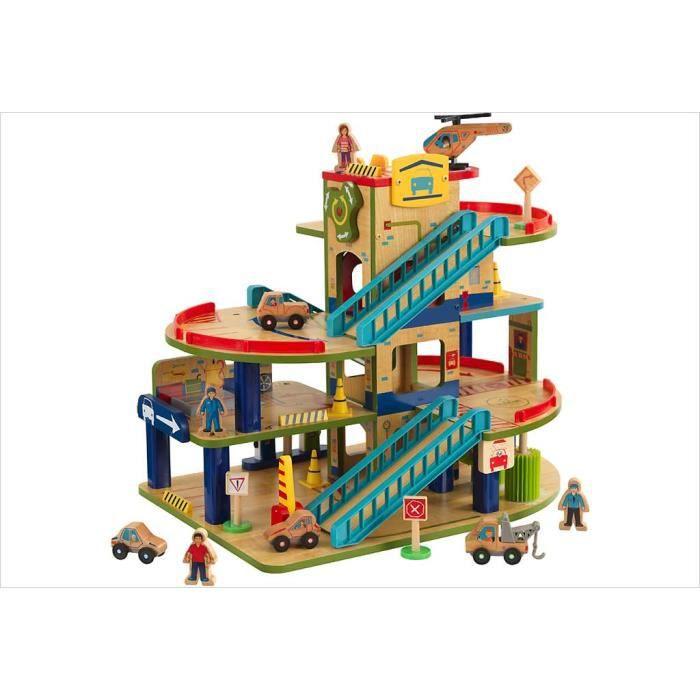 garage voiture enfant bois achat vente jeux et jouets pas chers. Black Bedroom Furniture Sets. Home Design Ideas