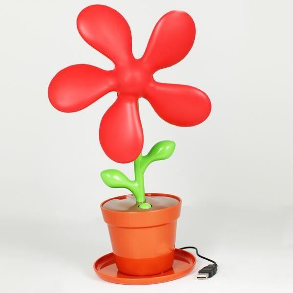 ventilateur de bureau usb pot de fleur rouge achat. Black Bedroom Furniture Sets. Home Design Ideas