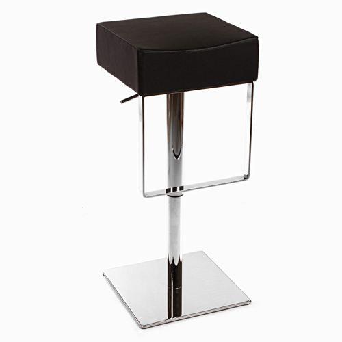 tabouret de bar carr jazzy noir achat vente. Black Bedroom Furniture Sets. Home Design Ideas
