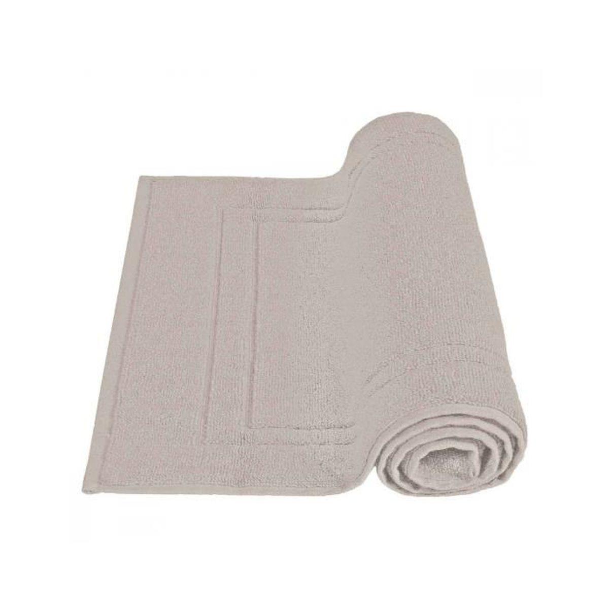 Tapis de bain 50x80cm uni 900gr m coton sensei la for La maison du tapis