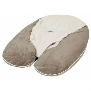 COUSSIN ALLAITEMENT CANDIDE Coussin Multirelax + Soft boa Taupe / Ecru