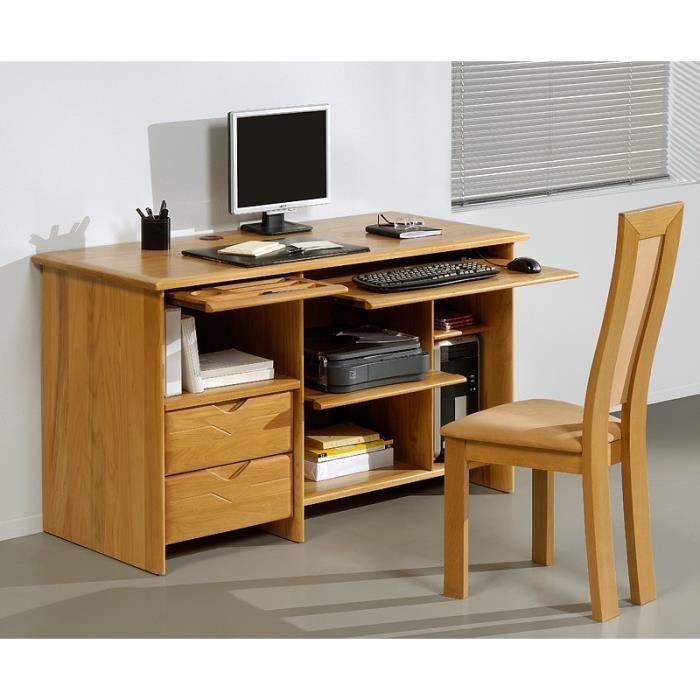 Bureau espace version 137 orme orme weng achat for Meuble bureau wenge