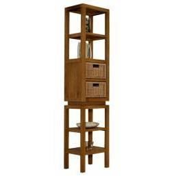 colonne tag re de salle de bains bali en teck achat vente colonne armoire sdb colonne. Black Bedroom Furniture Sets. Home Design Ideas