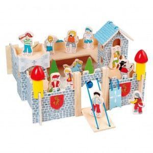 Jouet en bois chateau fort bois 10 personnes achat vente univers mini - Chateau fort en bois ...