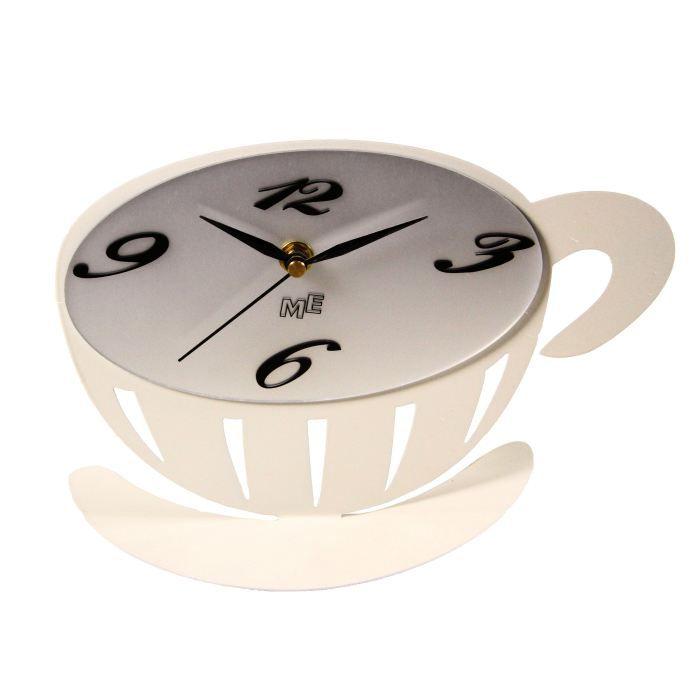 Horloge inox achat vente horloge horloge inox cdiscount for Horloge inox cuisine