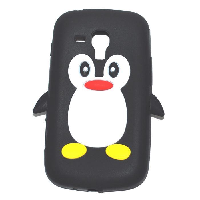 Coque housse noir pingouin samsung galaxy trend achat coque bumper pas cher avis et - Samsung trend lite pas cher ...