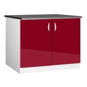 meuble cuisine bas 120 cm sous vier oxane achat vente meuble vasque plan meuble cuisine. Black Bedroom Furniture Sets. Home Design Ideas