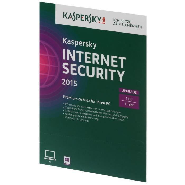 kaspersky internet security 2015 upgrade 1 pc prix. Black Bedroom Furniture Sets. Home Design Ideas