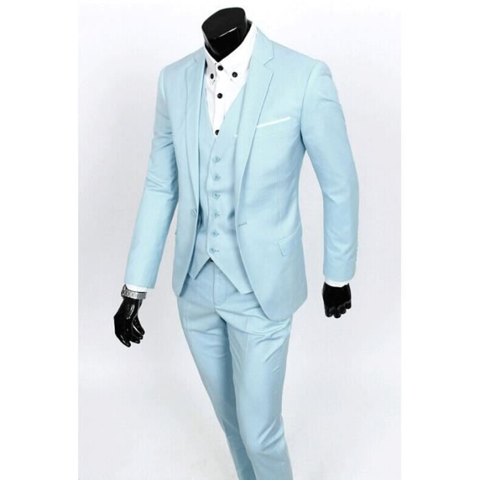 Costume de mariage hommes avec pantatlon costum noir - Costume homme mariage bleu ...