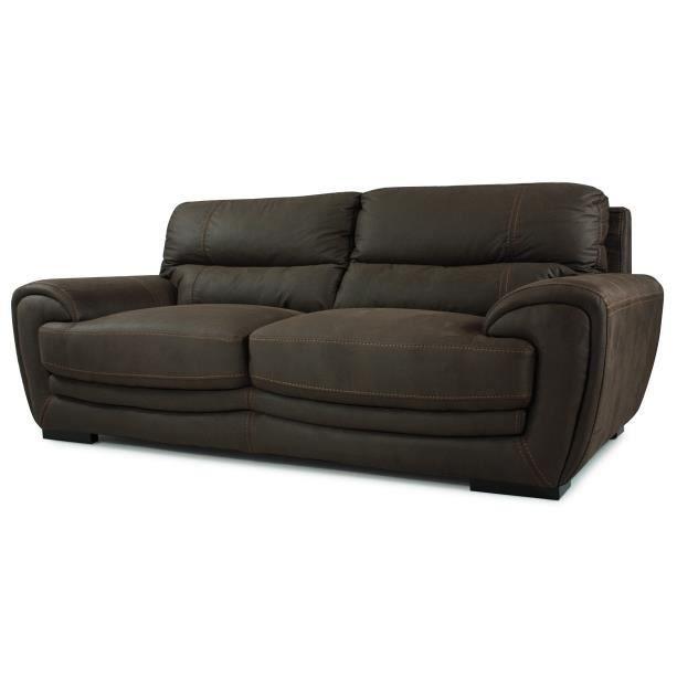 Canap en microfibre bronson achat vente canap sofa for Achat de canape