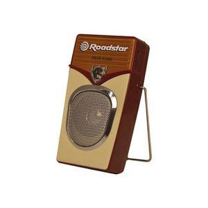 ROADSTAR TRA 255 Radio Vintage Portable Am/Fm - Prise Casque - Haut-parleur Façade Métal