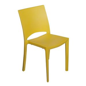 CHAISE Chaise polypropylène jaune COCCO