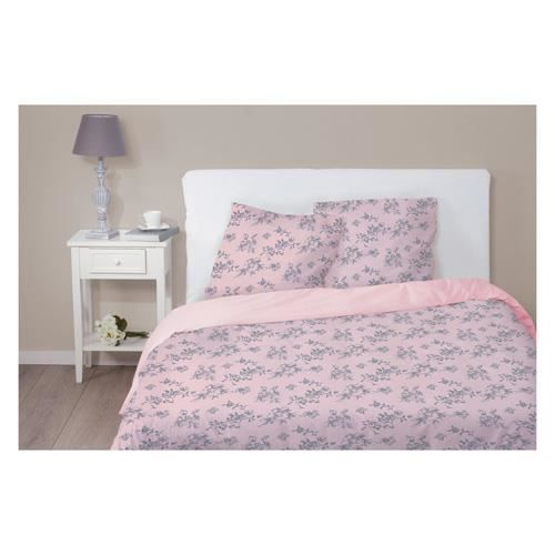 parure de lit fleurie et 2 taies 220 x 240 cm achat vente parure de drap cdiscount. Black Bedroom Furniture Sets. Home Design Ideas