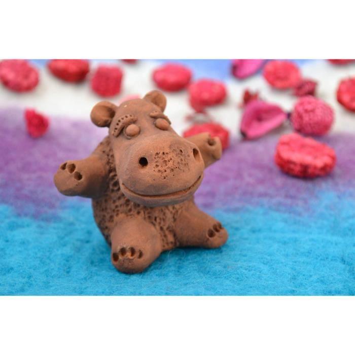 Figurine en c ramique en forme d hippopotame achat for Objet decoration hippopotame