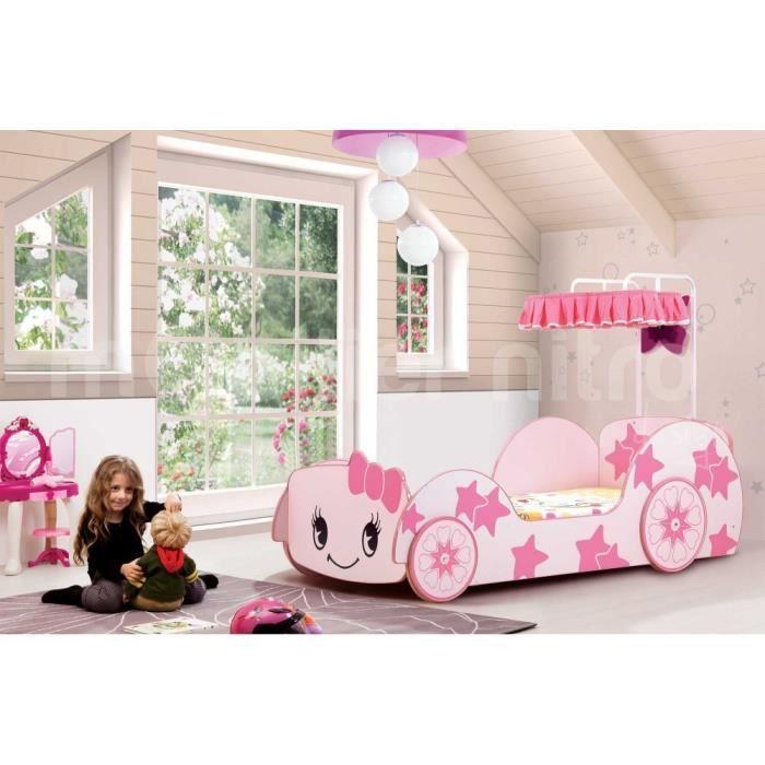 Lit voiture enfant belco10r rose achat vente lit complet lit voiture enfa - Lit enfant voiture fille ...