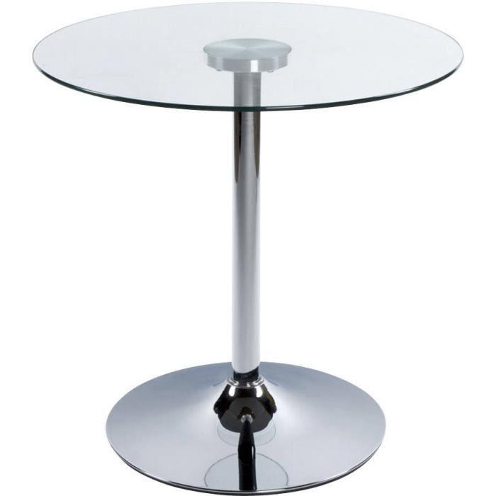 Table basse ronde en verre transparent en m tal achat for Table basse en verre ronde