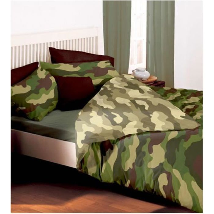 Double couette ensemble de camouflage achat vente - Housse de couette double ...