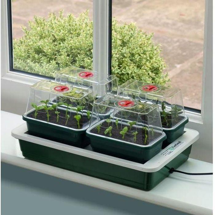 Garland set de 4 mini serres propagation lectrique for Jardinage interieur