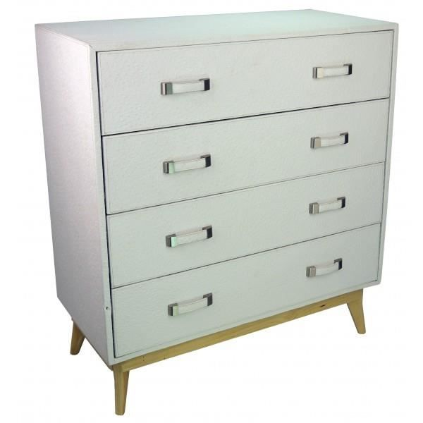 Commode design mango blanc achat vente commode de for Commode chambre adulte design