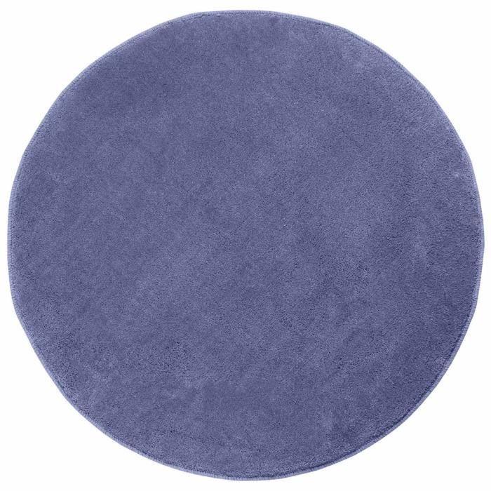 tapis rond tuft coloris bleu 70 cm de diamtre - Tapis Rond Color