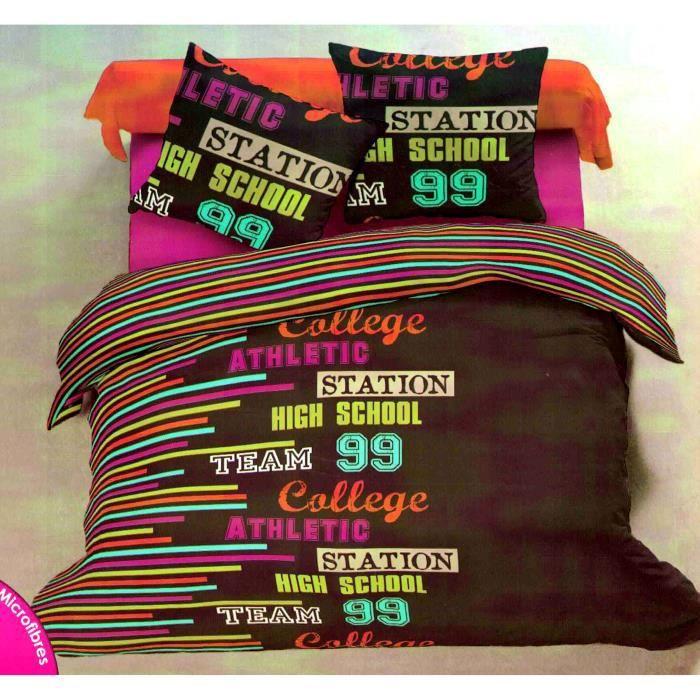 parure de lit une personne 140 x 200 achat vente housse de couette cdiscount. Black Bedroom Furniture Sets. Home Design Ideas