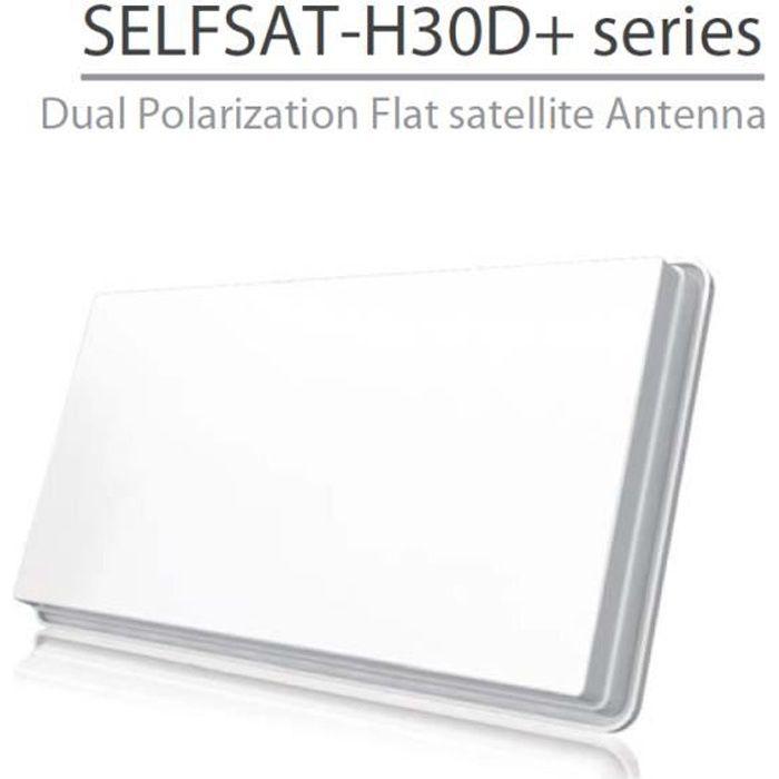 selfsat h30d parabole plate une sortie avec kit accroche fenetre parabole avis et prix pas. Black Bedroom Furniture Sets. Home Design Ideas