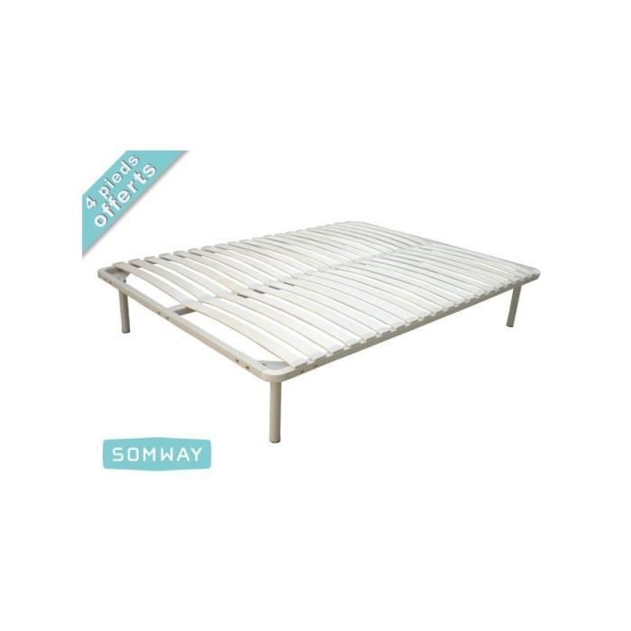 Cadre lattes somway 140x190 achat vente cadre a lattes cadre lattes s - Cadre a lattes 140x190 ...