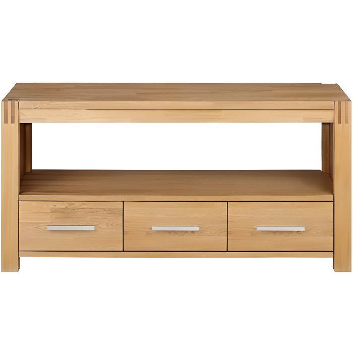 Meuble tv broceliande ii 1 niche 3 tiroirs ch achat vente meuble tv - Cdiscount meubles tv ...