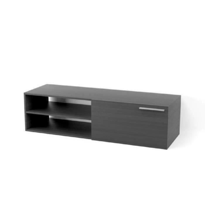 kikua meuble tv 130 cm gris cendr achat vente meuble tv kikua meuble tv 130 cm panneaux de. Black Bedroom Furniture Sets. Home Design Ideas