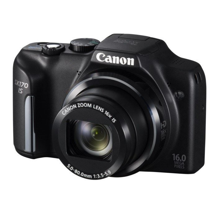 canon sx170 is compact noir ccd 16mp zoom 16x achat. Black Bedroom Furniture Sets. Home Design Ideas