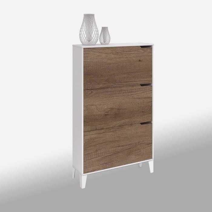 anders meuble chaussures 75 cm marron achat vente meuble chaussures anders meuble. Black Bedroom Furniture Sets. Home Design Ideas