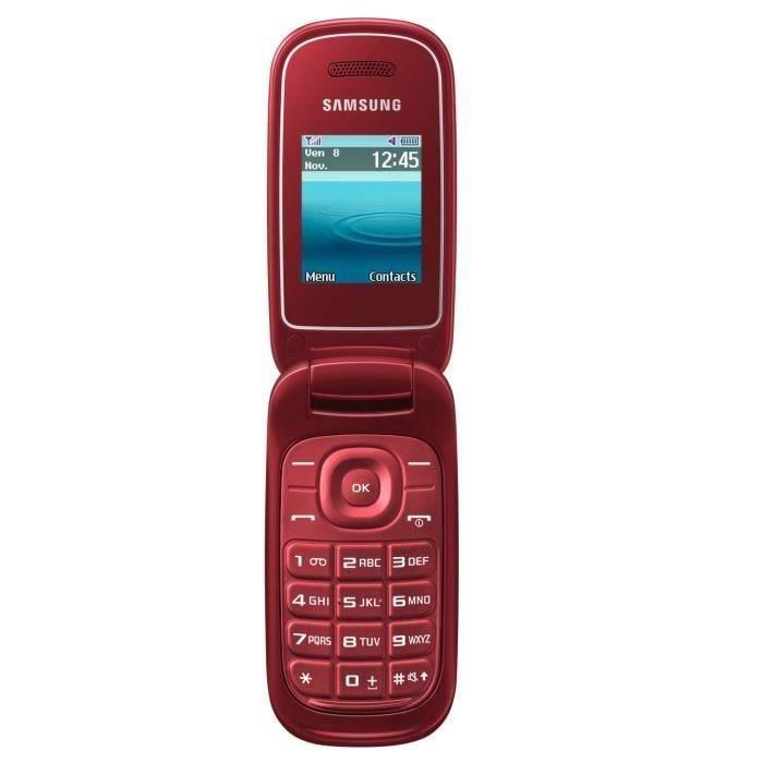 samsung galaxy e1270 rouge achat t l phone portable pas cher avis et meilleur prix cdiscount. Black Bedroom Furniture Sets. Home Design Ideas