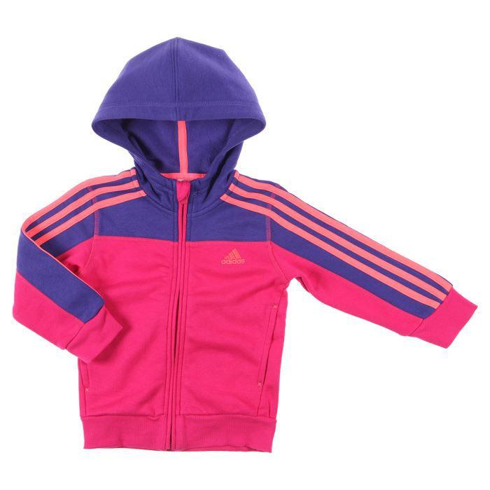 adidas veste capuche enfant fille rose et bleu achat. Black Bedroom Furniture Sets. Home Design Ideas